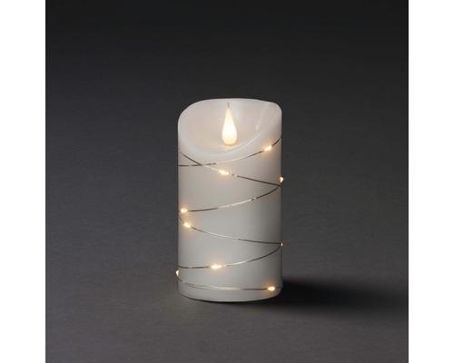 Konstsmide LED Echtwachskerze Draht Ø 7,5 H 13,5 cm warmweiß 1